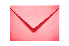 Half open red paper envelope Stock Images