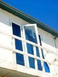 Half-open venster Stock Afbeelding