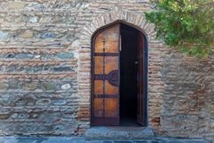 Wooden doors of the church. royalty free stock photos