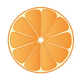 Half Orange 02. Illustration of half an orange Royalty Free Stock Images