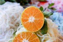 half orange Royaltyfri Foto