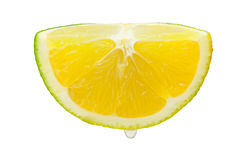 Half of orange. A half of orange isolated on a white background. This has a clipping path Stock Photos