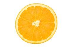 Half of Orange. Isolated on White Background royalty free stock images