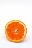 Half an orange royalty free stock photography