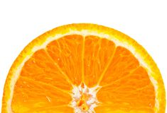 Half an orange Stock Image