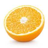 Half orange citrus fruit isolated on white Royalty Free Stock Photography