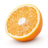 Half orange citrus fruit isolated on white Stock Photo