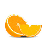Half orange fruit Royalty Free Stock Photo