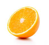 Half orange fruit on white background Stock Photography