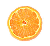 Half orange fruit on white background Stock Photography