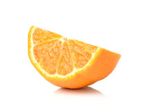 Half orange fruit on white background royalty free stock photo
