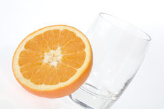 Half Orange in a glass Stock Photography