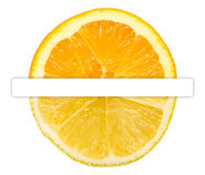 Half Orange Half Lemon Stock Photo