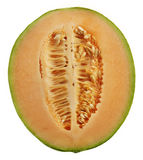 Half Of An Orange Honeydew Melon Stock Images