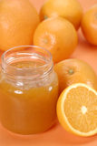Half orange jam. Royalty Free Stock Photos