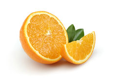 Half Orange and Orange Slice royalty free stock photography