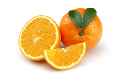 Half Orange and Orange Slice Stock Image