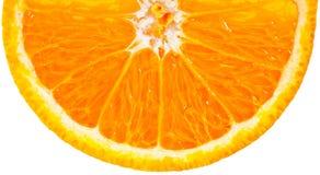 Half an orange over white stock image