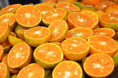 Half orange plie. Orange pile can make orange juice Royalty Free Stock Image