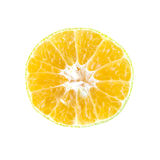Half orange section on top view Stock Image