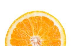 Half orange slice on white background Stock Photo
