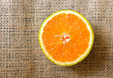 Half orange from top. Half orange seen from top Stock Images