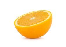 Half Orange. On white background Stock Images