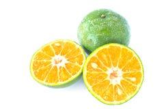 Half orange on white background Stock Photo