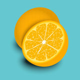 Half Of Oranges Royalty Free Stock Images