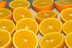Half oranges. Some half oranges for juice Stock Images