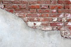 Half painted brick wall Stock Photos