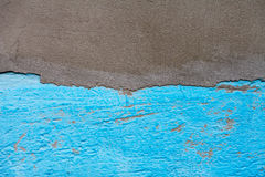 Half painted concrete wall Stock Photos