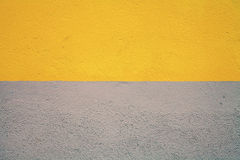 Half painted concrete wall Royalty Free Stock Photo