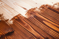 Half painted wooden boards. As a background composition Stock Photos