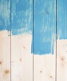 Half painted wooden boards Royalty Free Stock Photography