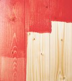 Half painted wooden boards Stock Photos