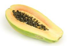 half papaya Fotografering för Bildbyråer