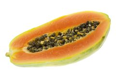 Half a papaya Stock Photos