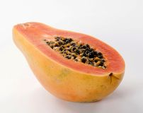 Half a papaya fruit Royalty Free Stock Photo