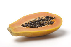 Half papaya fruit Stock Photography