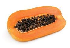 Half of papaya fruit Stock Images