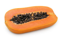 Half of papaya fruit Stock Photo