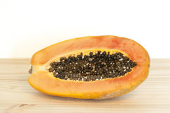 Half of papaya fruit Royalty Free Stock Photography