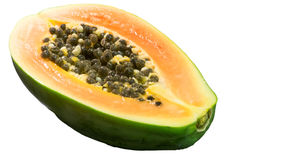 Half of papaya isolated Stock Photography