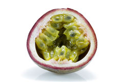 Half passion fruit Stock Images