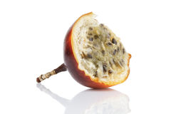 Half of passion fruit isolated on white Stock Images