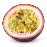 Half of passion fruit isolated on white. With clipping path Stock Image