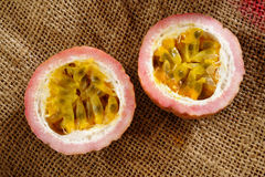 A half passionfruit Stock Photo