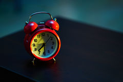 Half past seven in the morning on the alarm clock Royalty Free Stock Photos