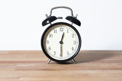 It is half past twelve o`clock stock images